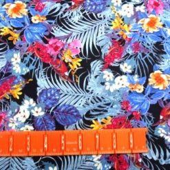 T-shirting Fabric Tropical Flower Garden Floral