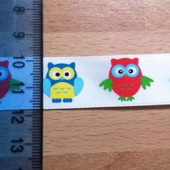 Owls Ribbon 25mm Wide