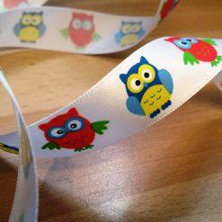 Owls Ribbon 25mm Wide