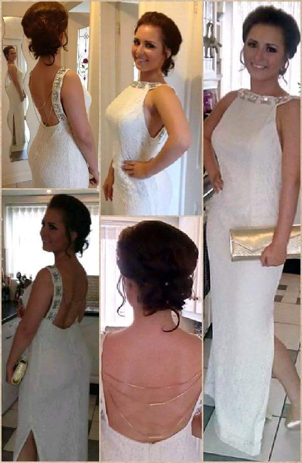 Prom Dress made with Lace Fabric