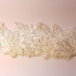 Ivory Forever Beaded Lace Trim