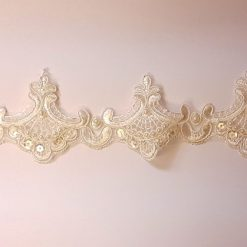 Ivory Loving Lace Beaded Trim