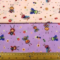 Fairies Printed Cotton Fabric