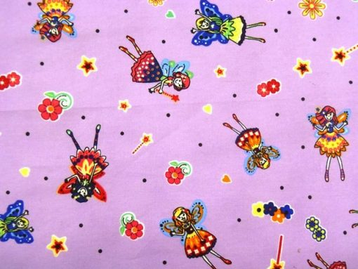 Fairies Printed Cotton Fabric