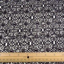 Black Floral Mesh Lace Fabric