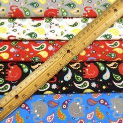 Paisley Elephants Printed Cotton Fabric