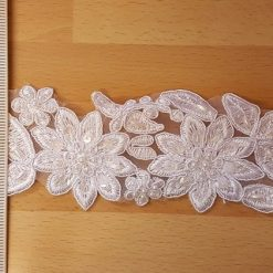 White Forever Beaded Lace Trim