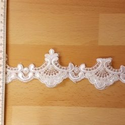 White Loving Lace Beaded Trim