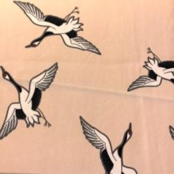 Amazon Georgette Fabric Spring Geese