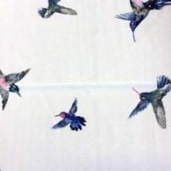 Georgette Polyester Fabric Amazon Georgette Kingfisher Bird