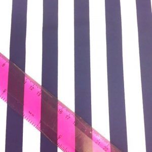 Lycra Fabric Striped Navy