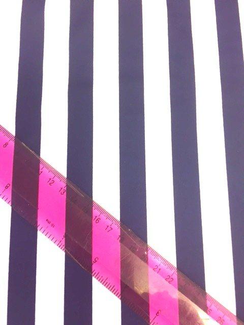 Lycra Fabric Striped Navy