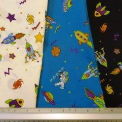 Cotton Printed Fabric Space