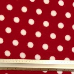 red white spot fleece