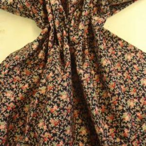 Printed Cotton Floral Fabric Sweet Rose
