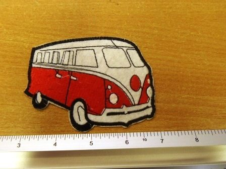 red camper van