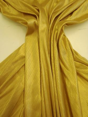neddle out jersey metallic gold