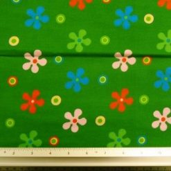 Cotton Printed Fabric Bright Floral Daisy