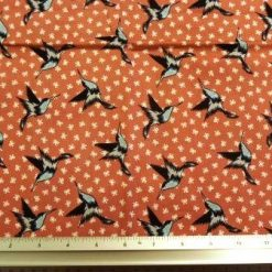 Cotton Fabric Swallows Birds