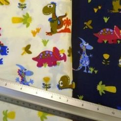 Cotton Fabric Dinosaur Sauce