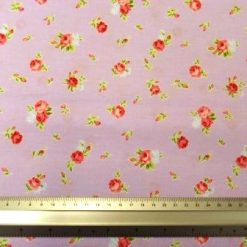 Cotton Printed Fabric York Rose Floral