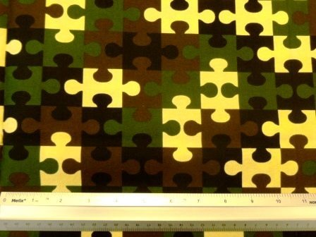 Cotton Fabric Army Jigsaw