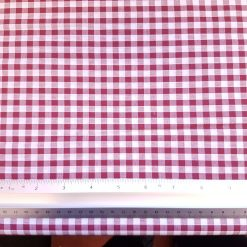 Wine 6mm Gingham Fabric