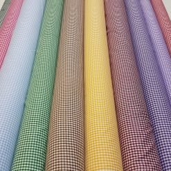 Gingham Fabric Polycotton
