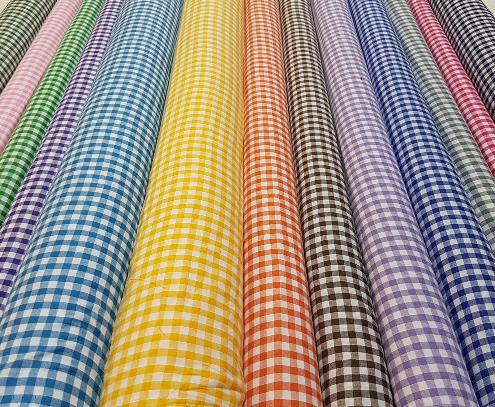 Gingham Fabric Polyester Cotton 6mm Fabric Land