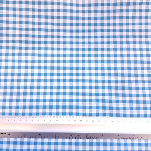 6mm Turquoise Gingham