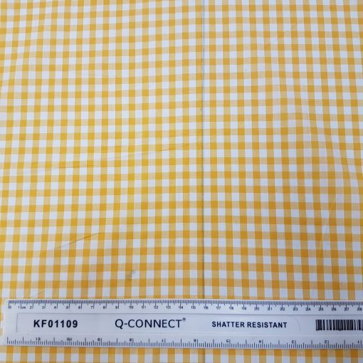6mm Yellow Gingham