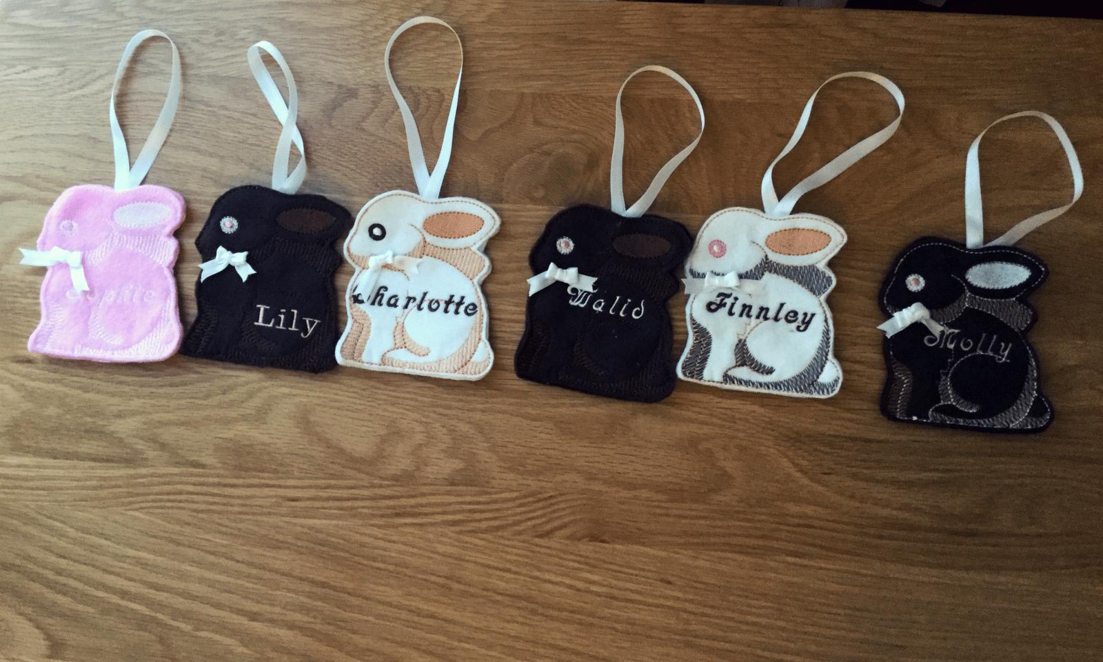 Easter Bunnies made with Felt