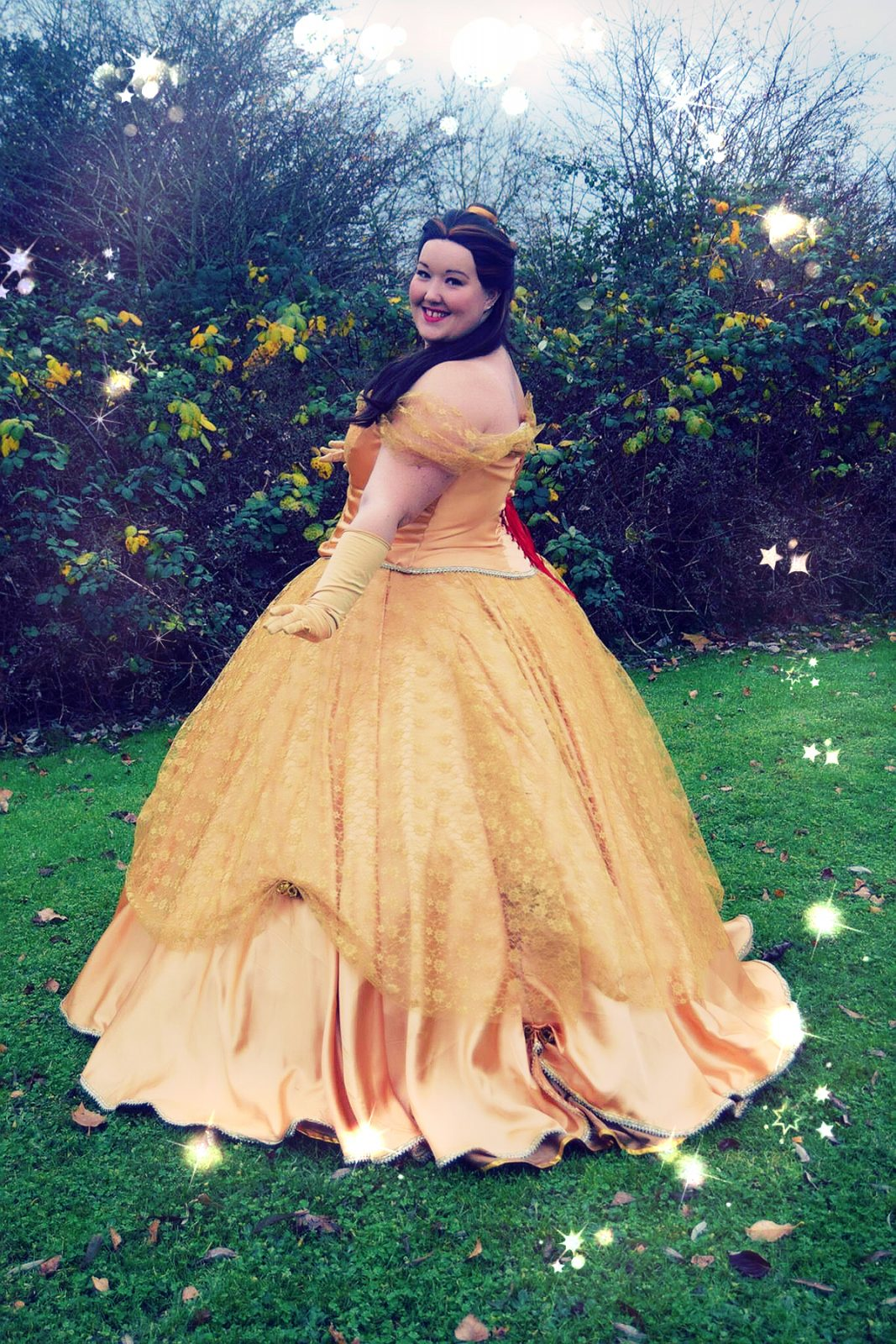 Belle's Ball Gown made with Lace and Ribbon