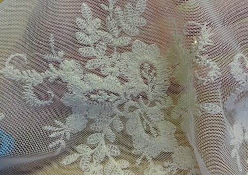 Ivory Guripure Lace Texture