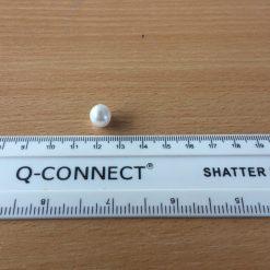 White 10mm Bridal Button
