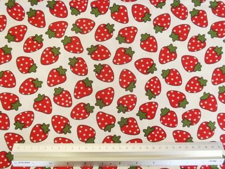 Fruit Strawberry Squash Cotton Fabric