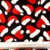 Cotton Fabric Christmas Hats Black