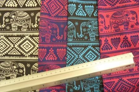 9ffcd5b808bd Paisley Elephants Printed Cotton Fabric £2.85 - £4.79   per metre. black  white