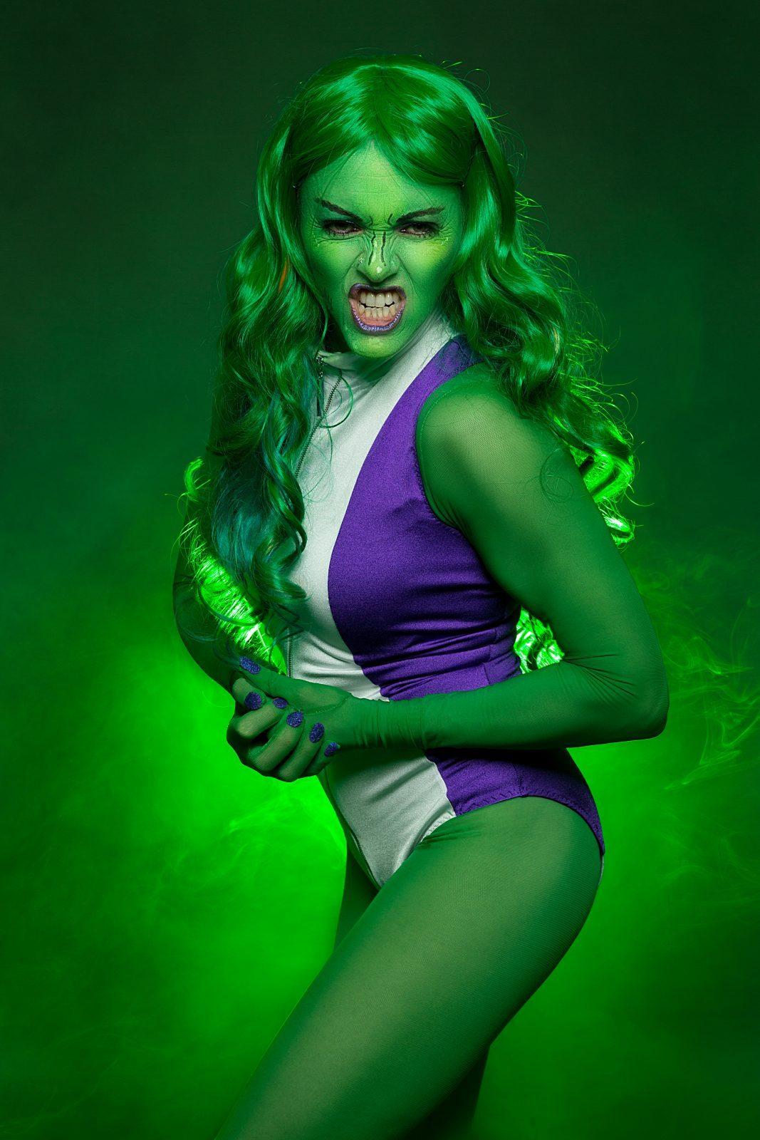 She-Hulk Leotard made with Lycra Fabric