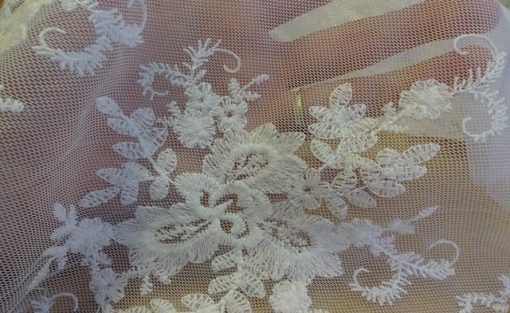 White Guipure Lace Texture