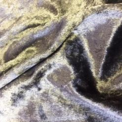 Crushed Velvet Fabric Dark Grey