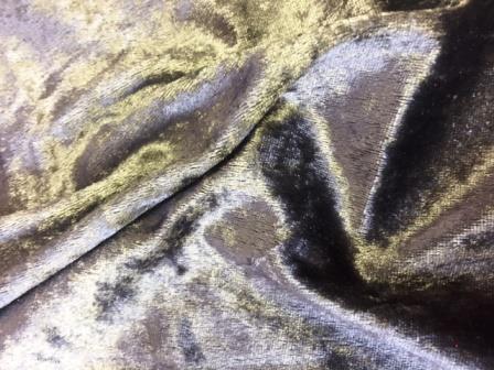 Crushed Velvet Fabric Dark Grey