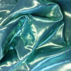 mint foiling metallic lycra