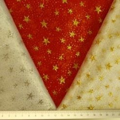 Organdie Fabric Stars with Glitter