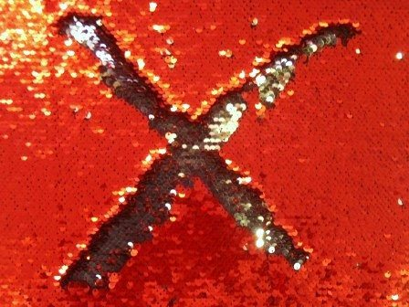 reverse sequin red