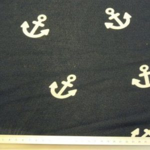 Knit Fabric Light Weight Anchors Down Navy Fabric