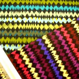 Winter Jersey Fabric Zig Zag