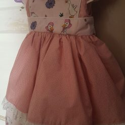 Pretty Pink Goose Dress made with Printed Cotton Fabric