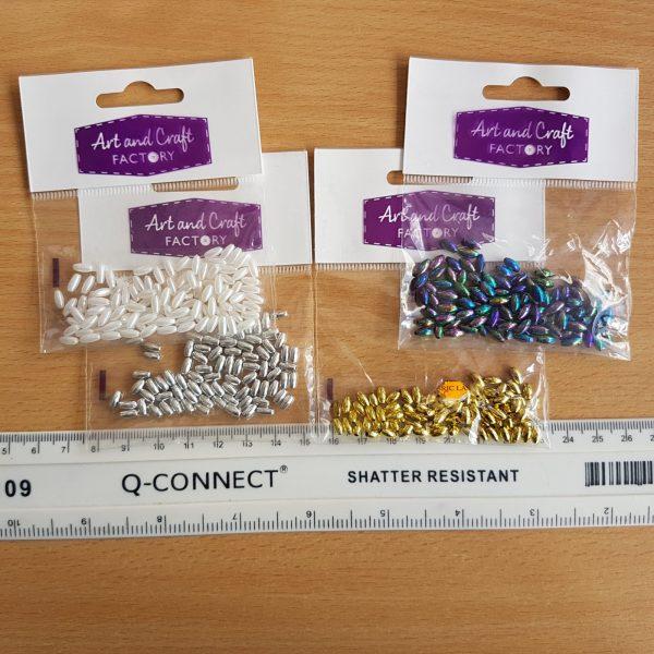 3mm x 6mm Rice Grain Beads