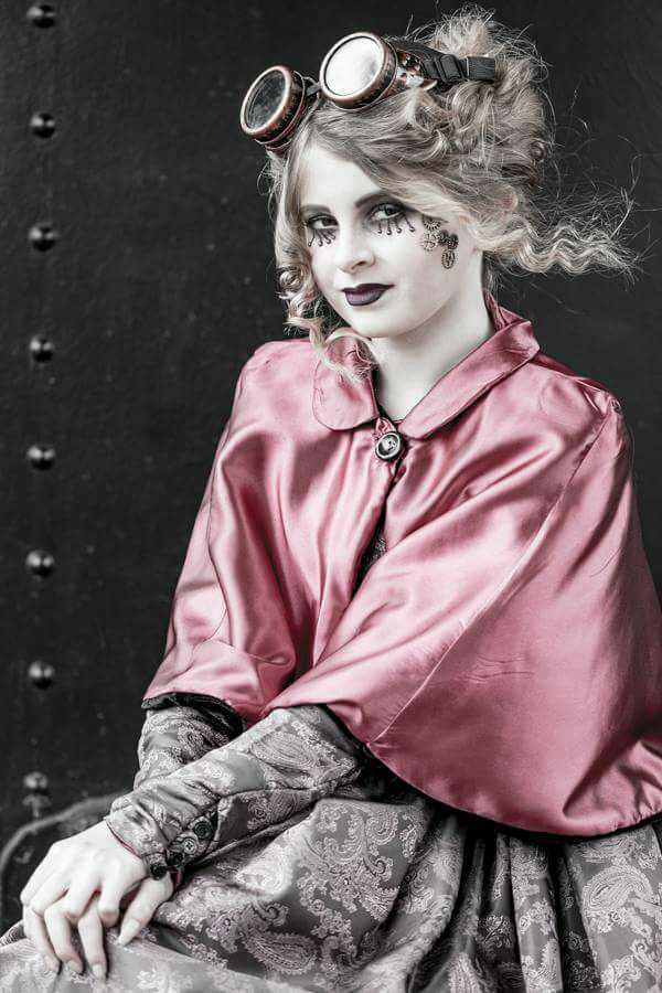 Steam Punk fashion made with Taffeta Fabric